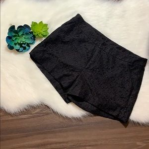 Nicole Miller Black Lace Shorts